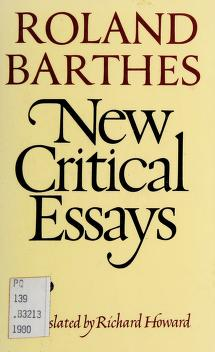 Cover of: New critical essays | Roland Barthes